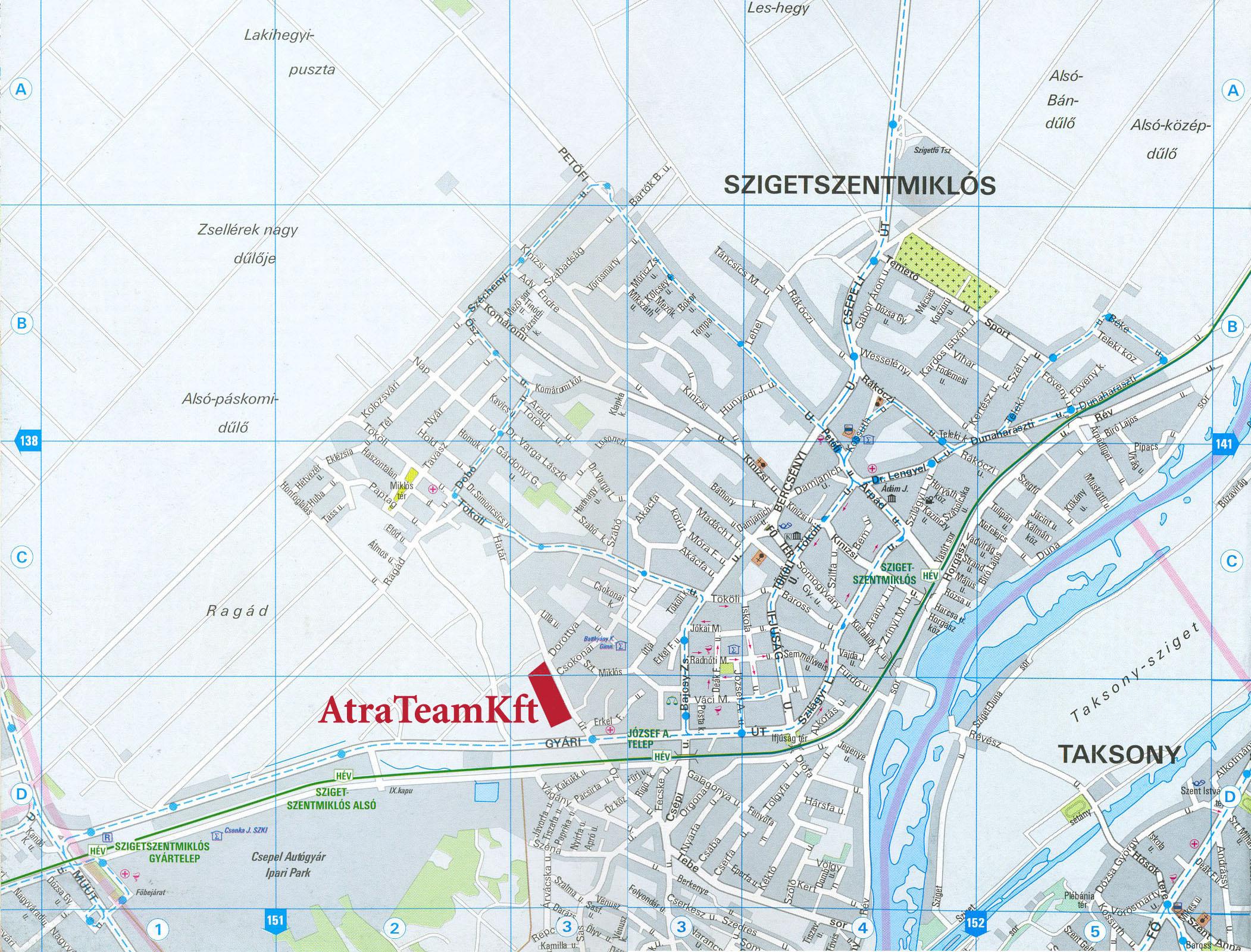 szigetszentmiklós térkép Atra Team Kft   Elérhetőség szigetszentmiklós térkép